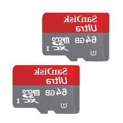 SANDISK 64GB ULTRA CLass10 Micro SD Card SDHC UHS-1 Memory C