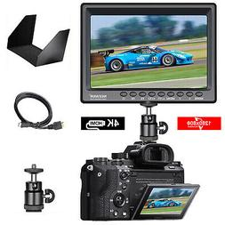 "7"" Camera Field Monitor 4k 1280x800 IPS with Battery and Cha"