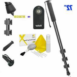 """72"""" Camera Monopod + IR Remote Control for NIKON DSLR CAMERA"""