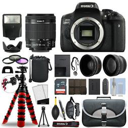 Canon 750D / T6i SLR Camera with 18-55mm STM+ 16GB 3 Lens Ul