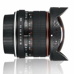 8mm f/3.5 Fisheye Lens Super Wide Angle Manual Focus For Can