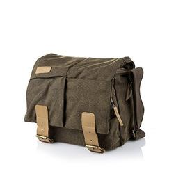 BESTEK Vintage Canvas Leather DSLR Camera Bag Messenger Shou