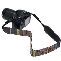 GTMax Vintage Multi-Color Camera Shoulder / Neck Strap for C
