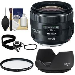Canon EF 35mm f/2 IS USM Lens with UV Filter + Hood + Cap Ke