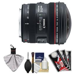 Canon EF 8-15mm f/4.0 L USM Fisheye Zoom Lens with Case & EW