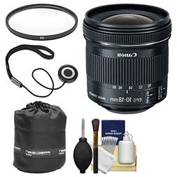 Canon EF-S 10-18mm f/4.5-5.6 IS STM Zoom Lens with Pouch + F