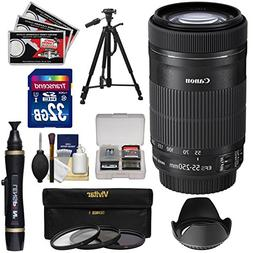 Canon EF-S 55-250mm f/4.0-5.6 IS STM Zoom Lens with 32GB Car