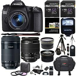 Canon EOS 70D 20.2 MP AF Full HD 1080p DSLR Camera Bundle wi