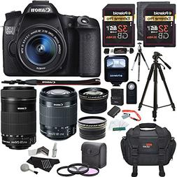 Canon EOS 70D 20.2 MP SLR Camera Bundle with EF-S 18-55mm f/