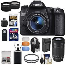 Canon EOS 70D Digital SLR Camera & EF-S 18-55mm & 55-250mm I
