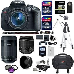 Canon EOS Rebel T5i Digital SLR with 18-135mm STM Lens + Can