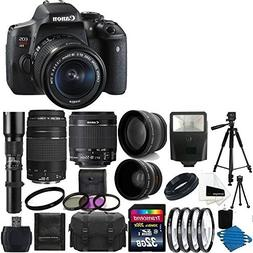 Canon EOS Rebel T6i Digital SLR Camera & 18-55 F3.5-5.6 IS S
