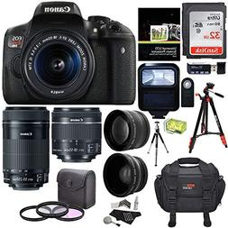 Canon EOS Rebel T6i Digital SLR EF-S 18-55mm is STM Lens + E