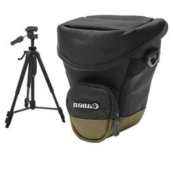 Canon Zoom Pack 1000 Holster Case + Tripod for EOS 6D, 70D,
