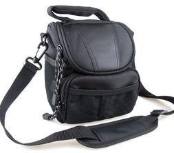 Co2Crea Black Soft Nylon Digital Camera Case Bag Cover Pouch
