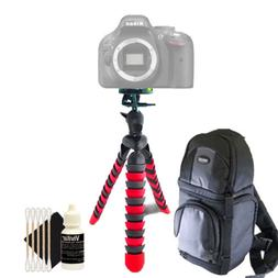 DSLR Camera Backpack Carrying Bag for Camera and Lenses + Ac