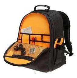 DSLR and Laptop Backpack - Orange interior - Black - AmazonB