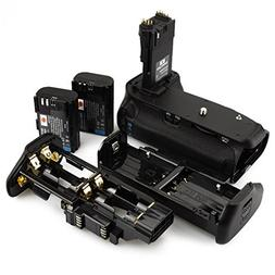 DSTE Pro BG-E14 Vertical Battery Grip + 2x LP-E6 LP-E6N for