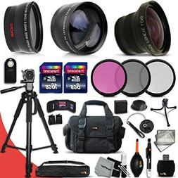 Deluxe 28 Piece Accessory Kit for Canon EOS Rebel T6i T6S T5