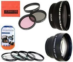 Deluxe 72mm Lens Kit For Canon Digital EOS Rebel SL1, T1i, T