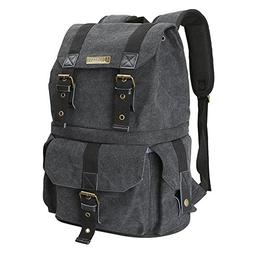 Evecase Convertible School / DSLR Camera Lens Canvas Backpac
