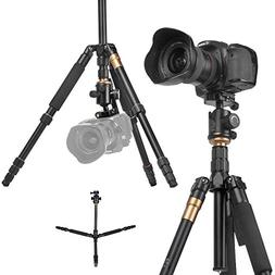 Flexzion DSLR Camera Tripod - Professional Q666 Portable Tra
