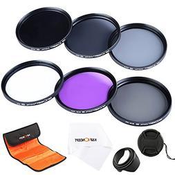 K&F Concept 52mm Lens Filter Set Slim UV Slim Circular Polar