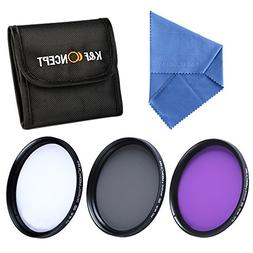 K&F Concept 77mm Slim UV Slim CPL Slim FLD Lens Filter Kit U