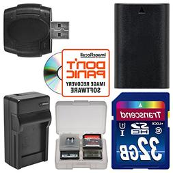 LP-E6 Battery & Charger + 32GB SD Card Essential Bundle for