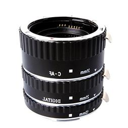 Mcoplus Extcm Auto Focus Metal Macro Extension Tube Set for