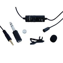 Movo Lavalier Omnidirectional Condenser Microphone with 20'