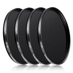 Neewer 4 Pieces 58mm Infrared X-Ray IR Filter Set IR720, IR7