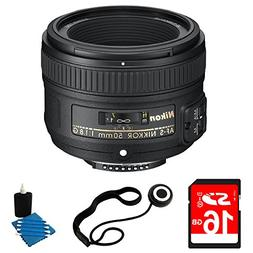 Nikon 50mm f/1.8G AF-S NIKKOR Lens Bundle for Nikon Digital
