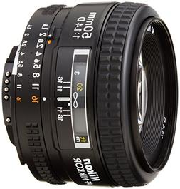 Nikon AF FX NIKKOR 50mm F/1.4D DSLR Lens with Auto Focus for