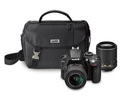 Nikon D3300 DX-format DSLR Kit w/ 18-55mm DX VR II & 55-200m