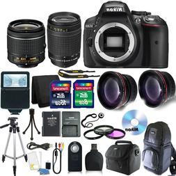 Nikon D5300 Digital SLR Camera with 18-55VR+70-300 Lenses +