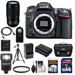 Nikon D7100 Digital SLR Camera Body with 70-300mm Lens + 64G