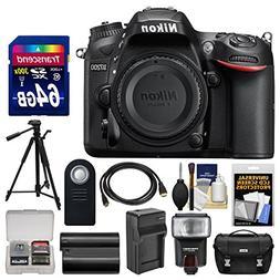 Nikon D7200 Wi-Fi Digital SLR Camera Body with 64GB Card + C