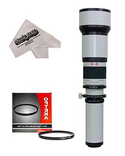 Opteka 650-1300mm High Definition Telephoto Zoom Lens with 9