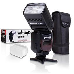 Opteka IF-980 E-TTL AF Dedicated Flash w/Bounce, Zoom, Tilt,