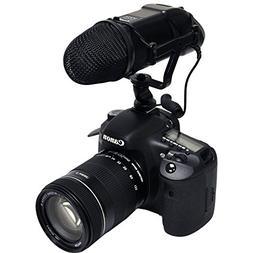Opteka VM-200 Video Condenser Stereo Shotgun Microphone for