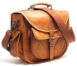 Purple Relic DSLR Leather Camera Bag ~ Travel Vintage Crossb