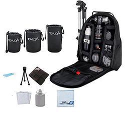 Photographer's Digital Camera/Video Padded Backpack for DSLR