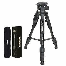 ZOMEI Professional Fluid Head Tripod Portable For DSLR Camer