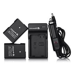 Powerextra 2 Pack Replacement Battery and Charger for Nikon
