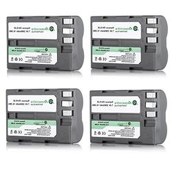 Powerextra 4 Pack High Capacity Replacement Nikon EN-EL3E Ba