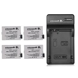 Powerextra 4 pack Replacement Canon LP-E8 Battery Compatible