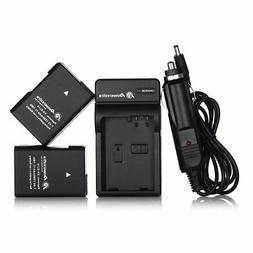 Powerextra EN-EL14 EN-EL14a 2 x Battery & Car Charger Compat