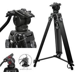 Professional Heavy Duty DV Video Camera Tripod with Fluid Pa