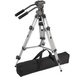 Ravelli AVTP Professional 75mm Video Camera Tripod with Flui